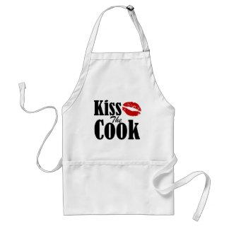 Beije o avental do cozinheiro |