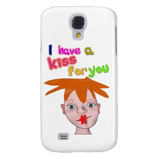 Beijo engraçado 3G/3GS Cas do dia dos namorados Capa Samsung Galaxy S4