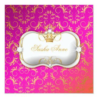 Beijo selvagem dourado do por do sol de 311 Ciao Convite Quadrado 13.35 X 13.35cm