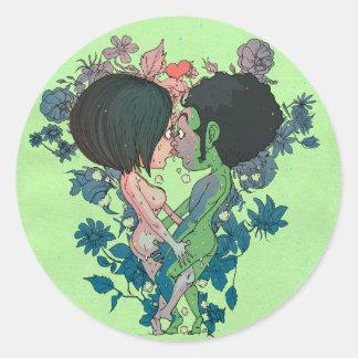 Beijo verde adesivo