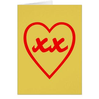 Beijos do coração do amor do dia dos namorados cartão