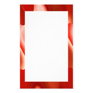 beira abstrata do vermelho papelaria