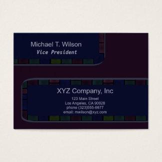 Beira azul escuro do azulejo da ameixa cartão de visitas