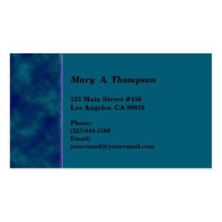 Beira azul escuro do lado da textura da cerceta cartão de visita
