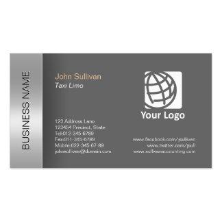 Beira cinzenta elegante do cartão de visita da lim