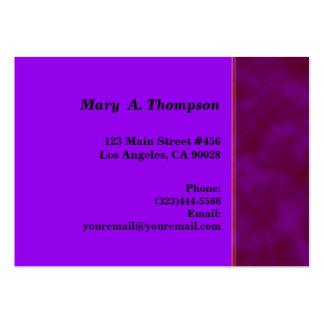 beira cor-de-rosa roxa escura do lado da textura cartão de visita grande