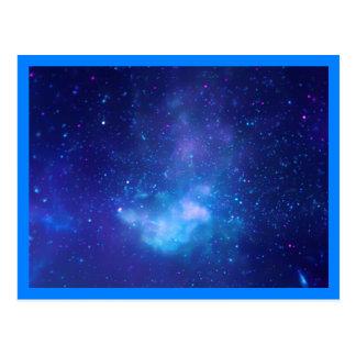 Beira do azul do centro galáctico cartão postal