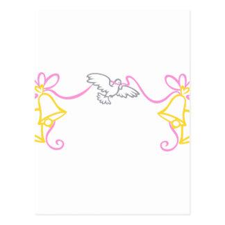 Beira do casamento cartão postal