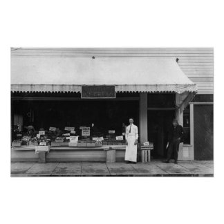 Beira-mar, opinião de Oregon da loja do sorvete de Poster