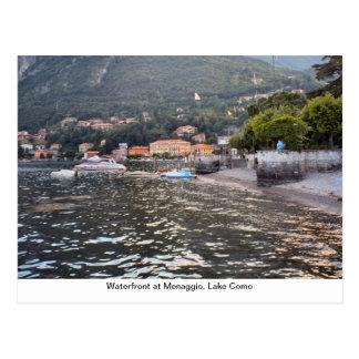 Beira-rio em Menaggio, lago Como Cartão Postal