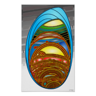 """Belas artes abstratas de """"RoboCell"""" do impressão d"""