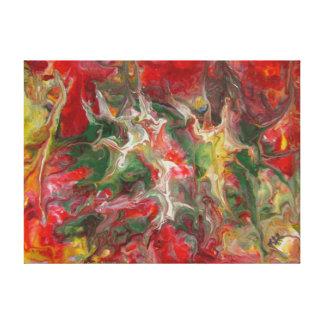 Belas artes contemporâneas modernas da pintura abs impressão em tela