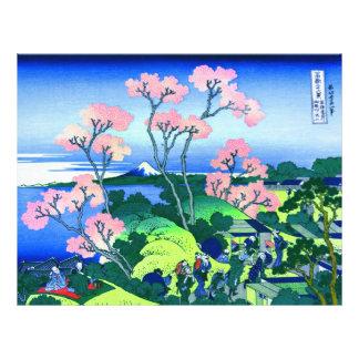 Belas artes da flor de cerejeira de Hokusai do Flyer 21.59 X 27.94cm