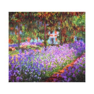 Belas artes de Monet do jardim do artista Impressão Em Tela
