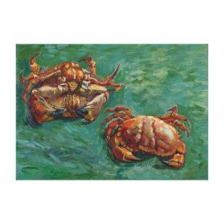 Belas artes de Van Gogh de dois caranguejos (F606) Impressão Em Tela