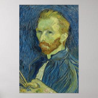 Belas artes do Auto-Retrato de Vincent van Gogh Poster