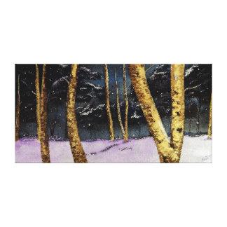 Belas artes do inverno impressão em tela