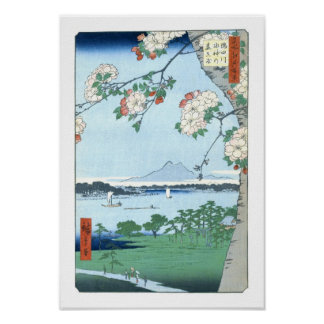 Belas artes do japonês de Massaki Hiroshige do Póster