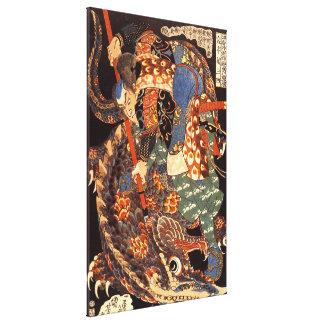Belas artes do japonês de Miyamoto Musashi Impressão Em Tela
