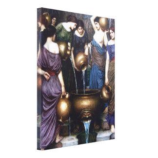 Belas artes do vintage, o Danaides pelo Waterhouse Impressão Em Tela