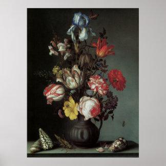 Belas artes florais com o poster das tulipas dos r