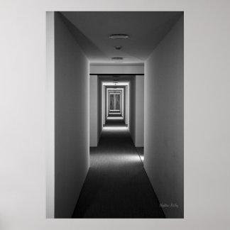 Belas artes preto e branco - um convite poster
