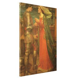 Belas artes, Tristan e Isolde do vintage pelo Impressão Em Canvas
