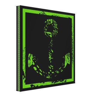 Belas artes verdes da âncora do limão impressão em tela
