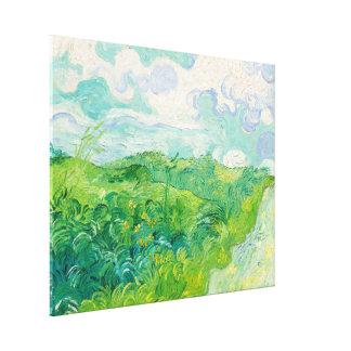 Belas artes verdes de Auvers dos campos de trigo Impressão Em Tela
