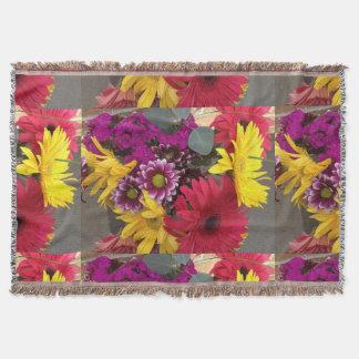Beleza da natureza das flores throw blanket