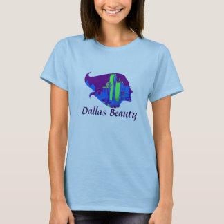 Beleza de Dallas em roxo, em azul, e o verde T-shirts