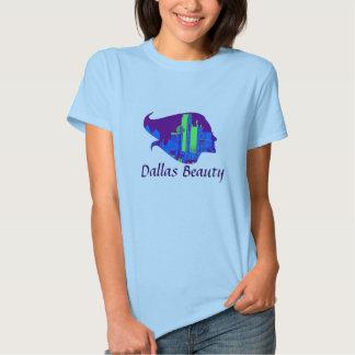 Beleza de Dallas em roxo, em azul, e o verde Tshirts
