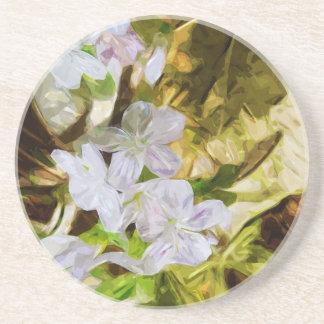 Beleza de primavera um impressionismo do abstrato porta copos de arenito