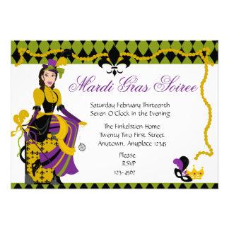 Beleza do carnaval convite personalizados