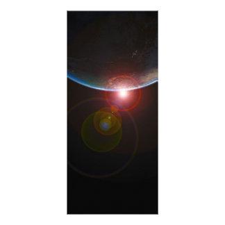 BELEZA DO NASCER DO SOL DOS PLANETAS DO ESPAÇO DA  10.16 X 22.86CM PANFLETO