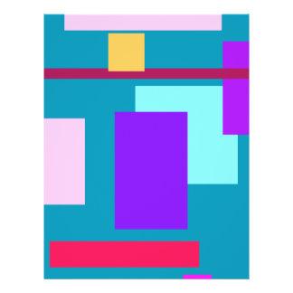 Beleza linear panfletos coloridos