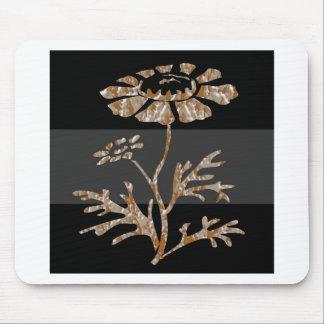 Beleza preta floral gravada prata do ouro n mouse pad