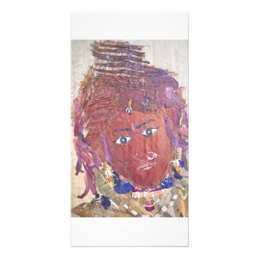Beleza tribal cartoes com fotos personalizados