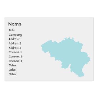 Bélgica - carnudo cartão de visita grande