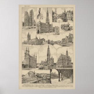 Bélgica, construções históricas posteres