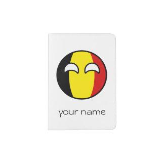 Bélgica Geeky de tensão engraçada Countryball Capa Para Passaporte