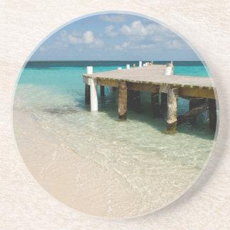 Belize, mar das caraíbas, Goff Caye. Uma ilha Porta Copos De Arenito