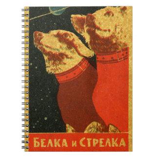 Belka e Strelka Cadernos Espirais