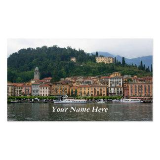Bellagio no lago Como Cartão De Visita