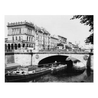 Belle-Alliance constrói uma ponte sobre, Berlim, Cartão Postal