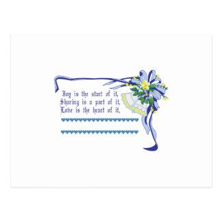 Bênção do casamento cartão postal