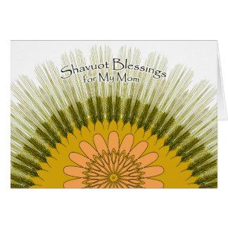 Bênçãos de Shavuot para minha mamã, cevada Sun Cartão