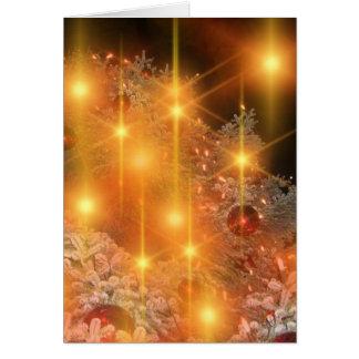 Bênçãos do Natal Cartão Comemorativo