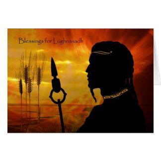 Bênçãos para Lughnasadh, deus de Sun Lugh e trigo Cartão