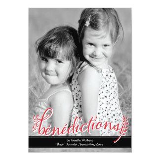 Bénédictions Holiday Photo Cards Convite 12.7 X 17.78cm